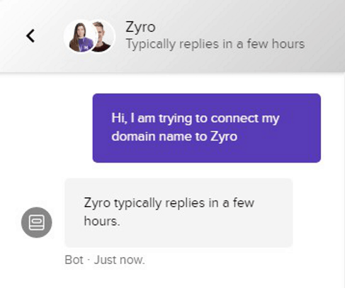 zyro customer support can be improved