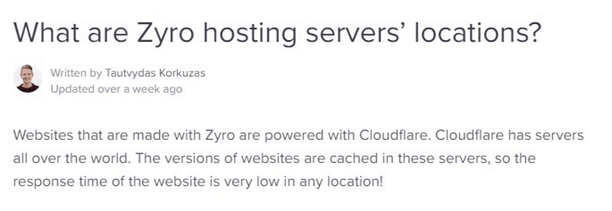zyro uses cloudflare servers